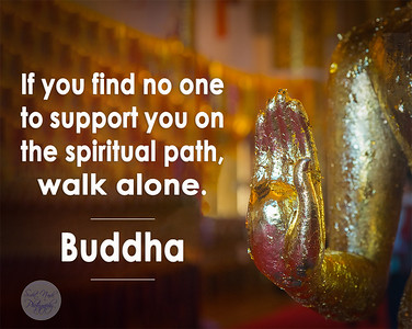 If you find no one to support you on the spiritual path, walk alone.  ~ Buddha