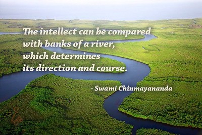 The #intellect can be compared with banks of a river, which determines its direction and course.  #SwamiChinmayanandaji #ChinmayaMission #gyan #wisdom #knowledge