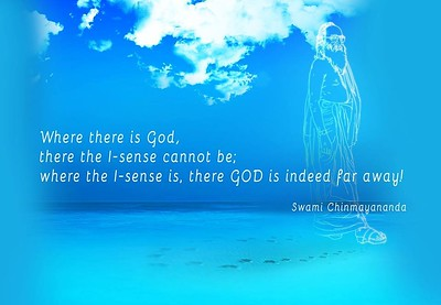 Where there is #God, there the I-sense cannot be;