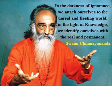 In the #darkness of #ignorance, we attach ourselves to the #unreal and fleeting #world;