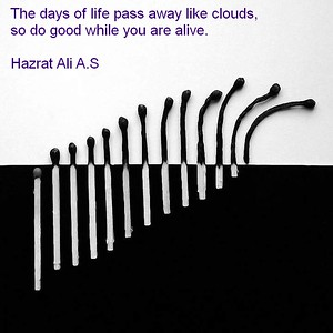 The days of life pass away like clouds,