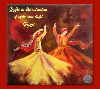Bathe in the splendour of your own light.  #Rumi #gyan  #knowledge #truth #wisdom #quote