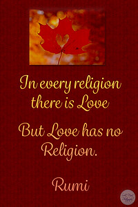 In every religion there is LOVE But LOVE has no Religion.  #Rumi #gyan  #spiritual #knowledge #truth #wisdom #quote