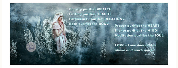 Charity purifies WEALTH Fasting purifies HEALTH Forgiveness purifies RELATIONS Bath purifies the BODY Prayer purifies the HEART Silence purifies the MIND Meditation purifies the SOUL LOVE - Love does all the above and much more!  #gyan #knowledge #truth #wisdom #quote