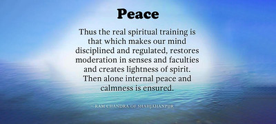 The the #real #spiritual #training is that which makes our #mind #disciplined and #regulated, restores moderation in #senses and faculties and creates lightness of #spirit. Then alone internal #peace and #calmness is ensured.  #Babuji #RamChandra #gyan #wisdom #knowledge