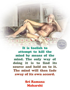 It is foolish to attempt to kill the mind by means of the mind. The only way of doing it is to find its source and hold on to it. The mind will then fade away of its own accord.  Sri Ramana Maharshi #gyan #knowledge #truth #wisdom