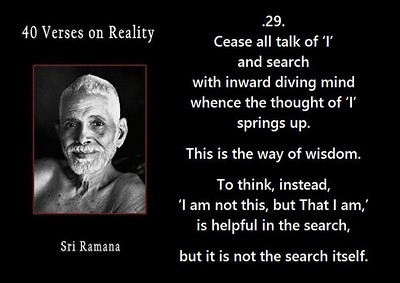 Cease all talk of 'I' & search with #inward diving #mind whence the thought of 'I' springs up. This is the way of #wisdom.  To #think, instead, 'I am not this, but That I am', is helpful in the search, but it is not the #search itself.  #SriRamanaMaharshi #gyan #wisdom #knowledge