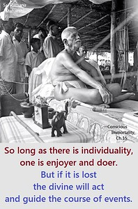 So long as there is #individuality, one is enjoyer and #doer.