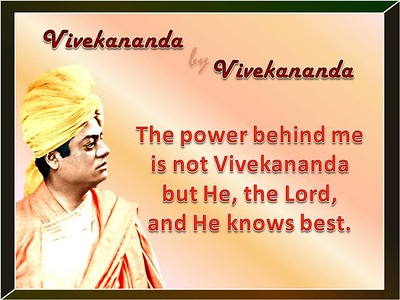 The power behind me is not Vivekananda but He, the Lord, and He knows best.  #SwamiVivekananda  #gyan #wisdom #knowledge