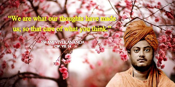 """We are what our #thoughts have made us; so take care of what you think.""  #Swami #Vivekananda #gyan  #wisdom #knowledge"