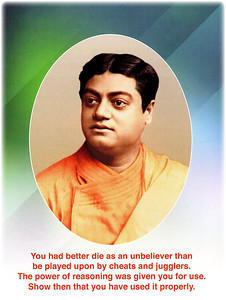 You had better die as an unbeliever than be played upon by cheats and jugglers. The power of reasoning was given to you for use. Show then that you have used it properly.  Swami Vivekananda  #SwamiVivekananda  #gyan #knowledge #wisdom
