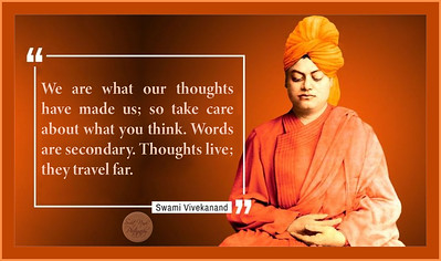 We are what our thoughts have made us; so take care about what you think. Words are secondary. Thoughts live; they travel far.  #Swami #Vivekananda  #gyan #knowledge #truth #wisdom