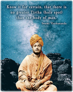 Know it for certain, that there is no greater #Tirtha (#holy #spot) than the #body of man.  #SwamiVivekananda #Swami #Vivekananda  #gyan #wisdom #knowledge
