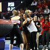 Georgia head coach Courtney Cupets Carter during the GymDogs' meet against Boise State at Stegeman Coliseum in Athens, Ga., on Saturday, March 10, 2018. (Photo by Steffenie Burns)