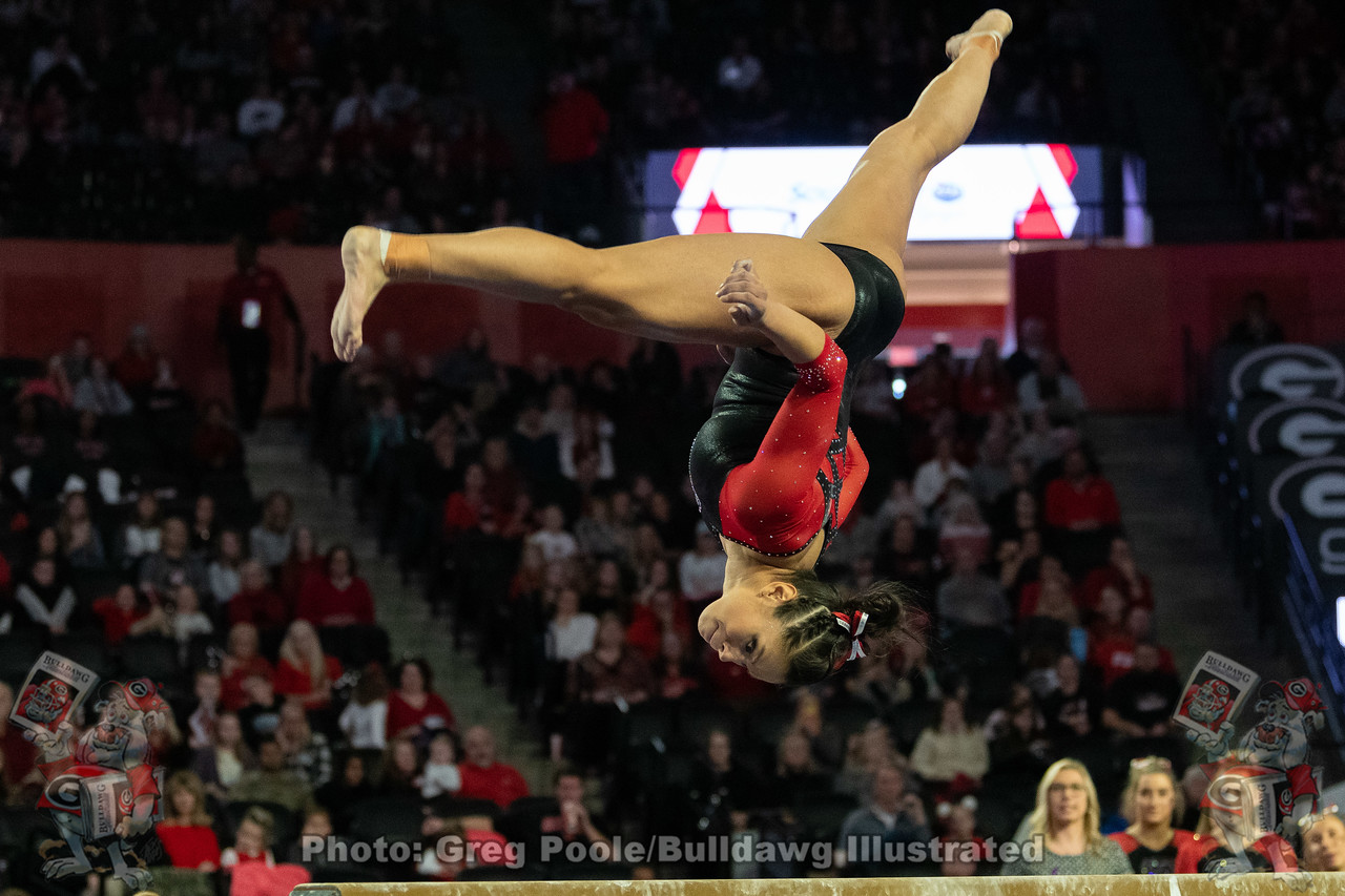 Sabrina Vega during Georgia vs. Iowa State meet on January 20, 2020