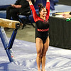 Georgia gymnast Mikayla Magee during a gymnastics meet against Missouri at Stegeman Coliseum in Athens, Ga., on Friday, January 8, 2021. (Photo by Tony Walsh)
