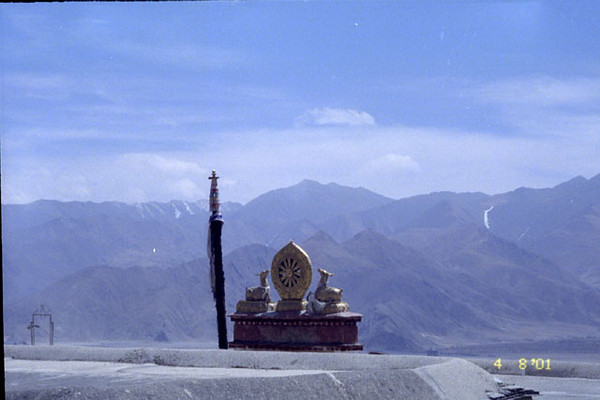 on the roof of the Jokhang in Lhasa