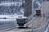 Bybuss på vei til Bjerkvik