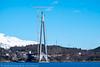 Nordre tårn Hålogalandsbrua 19. april 2016.