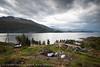 Øyjord, bygging av Hålogolandsbrua, Riving av hytter som kommer i byggesone og i støysone. situasjon pr 5. september 2013.