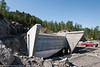 Statens vegvesen/Istak bygger veianlegg (ny E6) i forbindelse med Hålogalandsbrua. Foto 6. juni 2014, Øyjord. Brufundament.