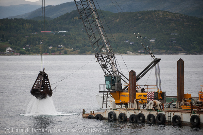 Bygging av Hålogolandsbrua, situasjon pr 5. september 2013.