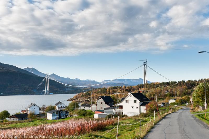 Hålogalandsbrua. Øyjord, 23. sept 2016