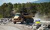 Statens vegvesen/Istak bygger veianlegg (ny E6) i forbindelse med Hålogalandsbrua. Foto 6. juni 2014, Øyjord. På Seines, nær gamle E6.