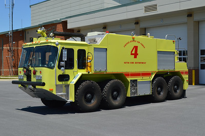 Crash 4 is a 1995 Emergency One Teledyne 8x8 P-23, 2000/3300/500/500# dry chem.