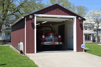 Garage for the '44 Chevy/Oren, located behind the historic Westphal Hose Company station.