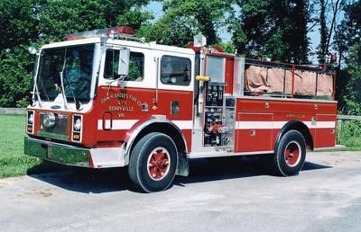 Former Tanker 1-1, a 1980 Mack MC/Pierce/1987 Pierce, 400/1250, sn- F1896.  Sold to South Berkeley, West Virginia, in 2004.
