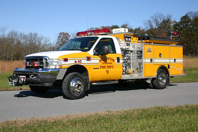Attack 40 is a 2003 Ford F-550 4x4/Pierce, 750/300/20, sn- 14200.