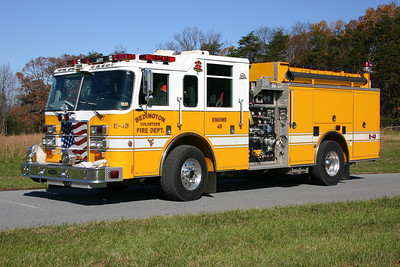 Engine 43 is a 2004 Pierce Dash, 1500/1000/20, sn- 15278.