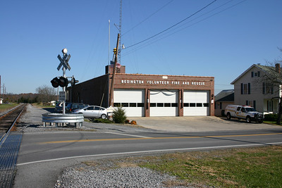 Station 40 is located right next to train tracks.