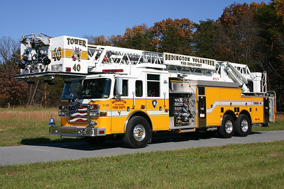 This 2006 Pierce Dash, 2000/300, 100', sn- 17905 is Tower 40.