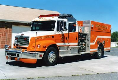 Former Rescue Engine 64, a 2001 Freightliner 112/KME, 1500/750/20, sn- 4589.