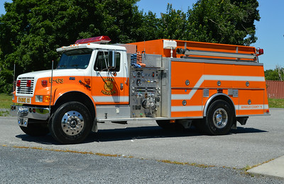 Engine 63 is a 1994 International 4900/KME, 1000/1500, sn- GSO 2314.  One of three delivered in the County.