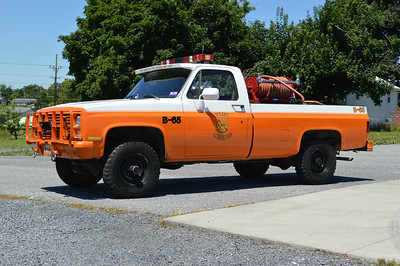 Former Brush 65 is a 1985 Chevy/2003 FD, 20/200.  ex - Military and Berkeley County Sheriffs Office.  Sold to Back Creek Valley, WV.