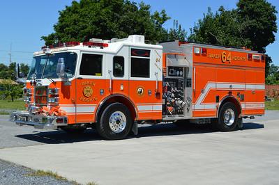 Rescue Engine 64 is a 2004 Pierce Dash, 1250/750/50, sn- 15312.
