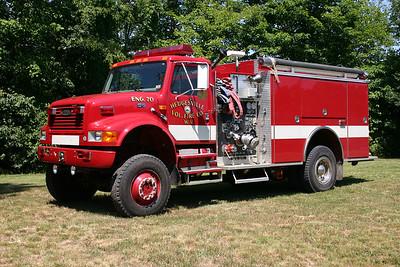 Engine 70 is this 1998 International 4900 4x2/Pierce, 1250/1000, sn- EB559.