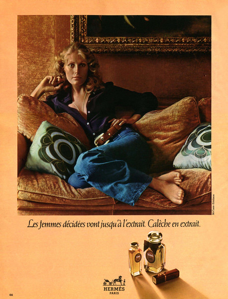 HERMÈS Calèche 1972 France 'Les femmes décidées vont jusqu'à l'extrait - Calèche en extrait'