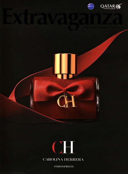 CAROLINA HERRERA CH Privée 2017 Qatar (Extravaganza cover with golden lettering & matte-gloss effects)