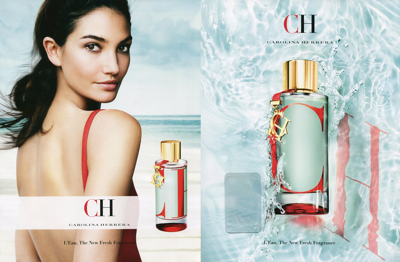 CAROLINA HERRERA CH L'Eau 2017 Spain (recto-verso with scent sticker) 'The new fresh fragrance'