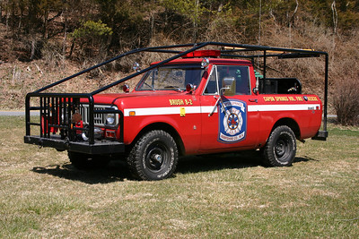 Brush 8-2 is this 1975 International Scout II, 100/100/5.  ex - The Plains, Virginia (Fauquier County) Attack 4.