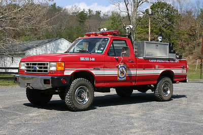 Former Brush 8-60 was a 1988 Ford F-350/Wisconsin, 250/250.  Sold to Bergton, Virginia (Rockingham County).  ex - Buckhall, Virginia (Prince William County) Brush 16.