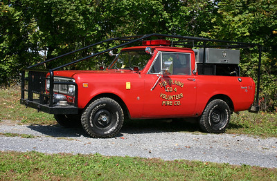 Former Brush 4 from The Plains was this 1975 International Scout II, 100/100/5.    Sold to the Capon Springs FD, West Virginia.