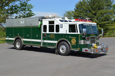 The officer side of Engine Rescue 1 from Romney.