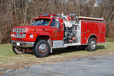 Engine 3-12 is a 1990 Ford F800/Pierce Suburban, 1000/750, sn- E5749.
