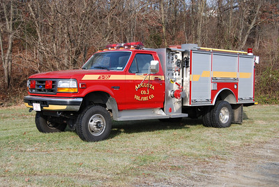 Attack 3-30 is a 1995 Ford Super Duty 4x4/S&S, 500/200.   4 wheel drive conversion by Marmon Herrington.