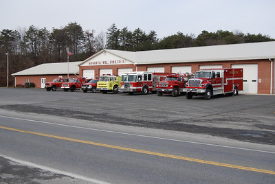 Augusta Station 3 and apparatus line-up.